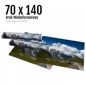 4 Wydruk dużych zdjęć druk posterów odbitki online micuda 70x140 cm