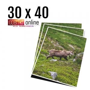 Odbitka 30x40 wywoływanie zdjęć online papier jedwabny