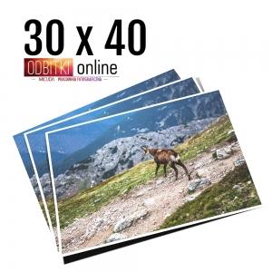 Odbitka 30x40 wywoływanie zdjęć online papier matowy błyszczący