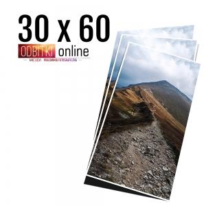 Odbitka 30x60 wywoływanie zdjęć online papier jedwabny