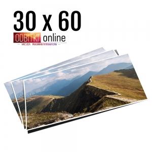 Odbitka 30x60 wywoływanie zdjęć online papier matowy błyszczący