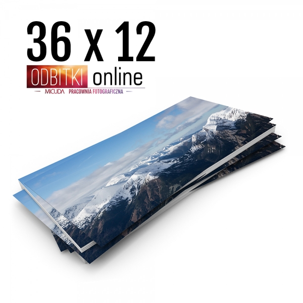 Odbitka 36x12 cm ILFORD Panorama Zdjęcie Panoramiczne 2
