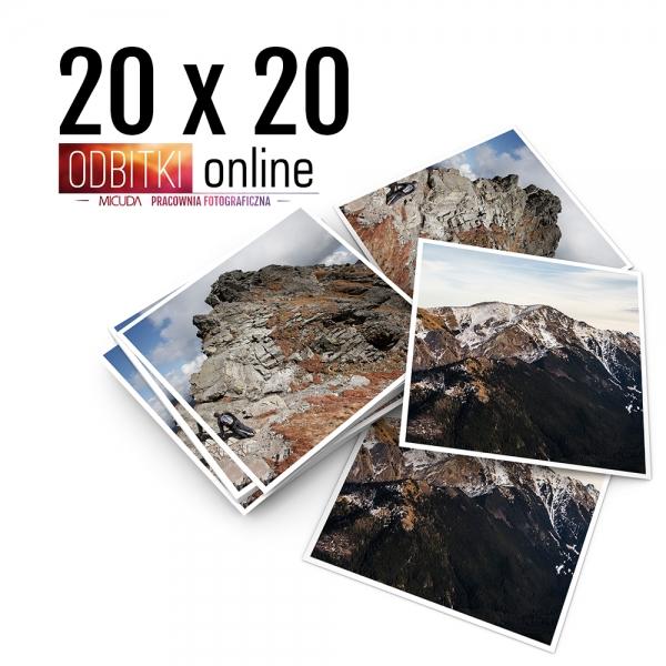 Odbitka Zdjęcia Kwadratowe 20x20 cm ILFORD Kraków 1