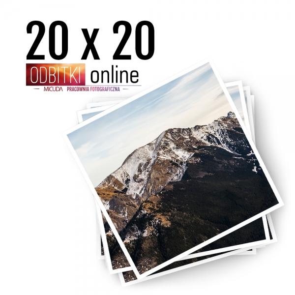 Odbitka Zdjęcia Kwadratowe 20x20 cm ILFORD Kraków 2