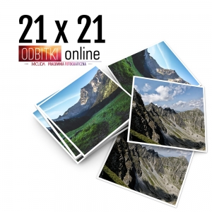 Odbitka Zdjęcia Kwadratowe 21x21 cm ILFORD Kraków 1