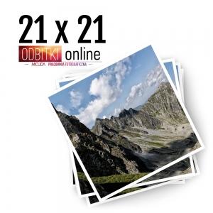 Odbitka Zdjęcia Kwadratowe 21x21 cm ILFORD Kraków 2
