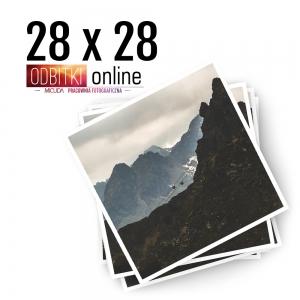 Odbitka Zdjęcia Kwadratowe 28x28 cm ILFORD Kraków 2